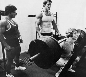 Arnold and Franco Doing Compound Lifts