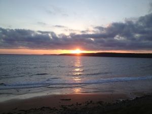 Sunset at Freshwater West